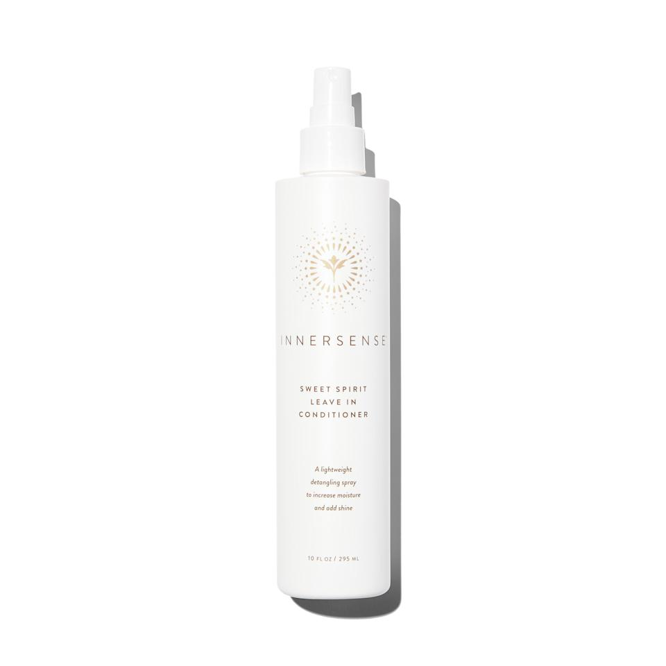 """<p><strong>INNERSENSE Organic Beauty</strong></p><p>follain.com</p><p><strong>$26.00</strong></p><p><a href=""""https://go.redirectingat.com?id=74968X1596630&url=https%3A%2F%2Ffollain.com%2Fcollections%2Fhair-treatment%2Fproducts%2Fsweet-spirit-leave-in-conditioner&sref=https%3A%2F%2Fwww.harpersbazaar.com%2Fbeauty%2Fhair%2Fg5620%2Fbest-leave-in-conditioners%2F"""" rel=""""nofollow noopener"""" target=""""_blank"""" data-ylk=""""slk:SHOP"""" class=""""link rapid-noclick-resp"""">SHOP</a></p><p>Sensitive scalps, rejoice: This nutrient-rich spray is packed with ingredients like honey extract to soothe irritation while it softens and hydrates hair.</p>"""