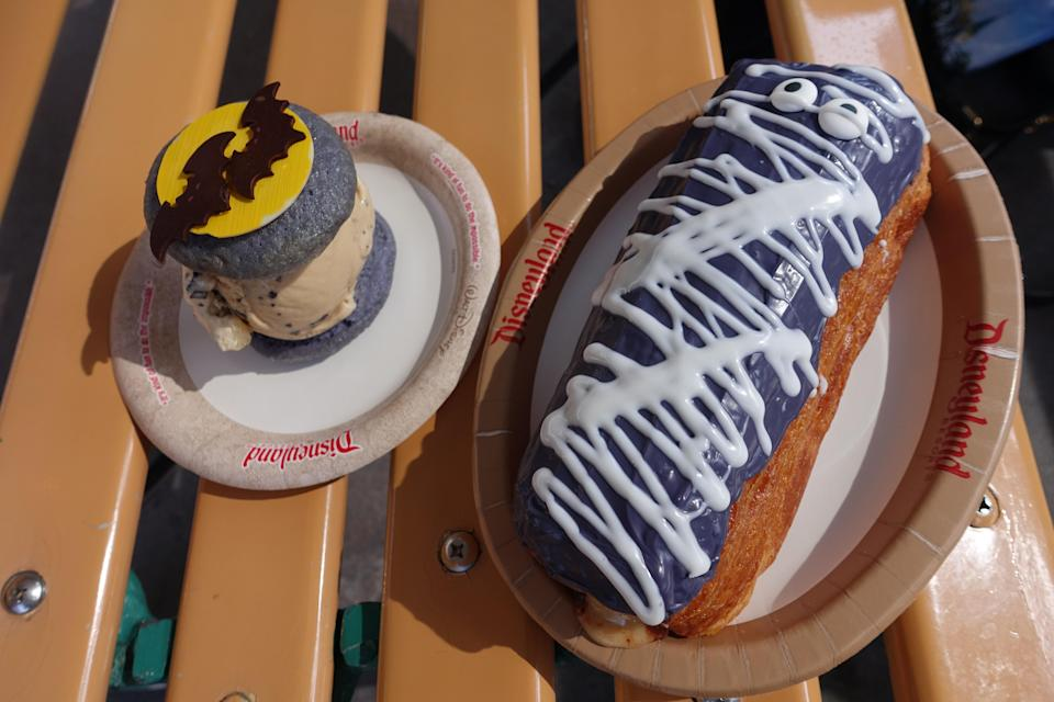 Look for Mummy Croissant Doughnut and a special Halloween ice cream whoopie pie at Disney California Adventure. Photo credit: Angela Kim / Yahoo Lifestyle