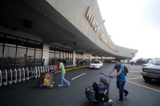 Passengers arrive at the Ninoy Aquino International Airport