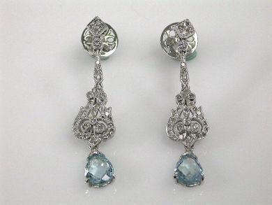 "<p>cynthiafindlay.com</p><p><strong>$4000.00</strong></p><p><a href=""https://www.cynthiafindlay.com/jewellery/earrings/aquamarine/vintage-style-aquamarine-and-diamond-drop-earrings-68069-p3200.html"" rel=""nofollow noopener"" target=""_blank"" data-ylk=""slk:Shop Now"" class=""link rapid-noclick-resp"">Shop Now</a></p><p>Drop earrings set with aquamarines and diamonds mimic the grandeur of Regency era jewels and are a stunning way to set off upswept hair. </p>"