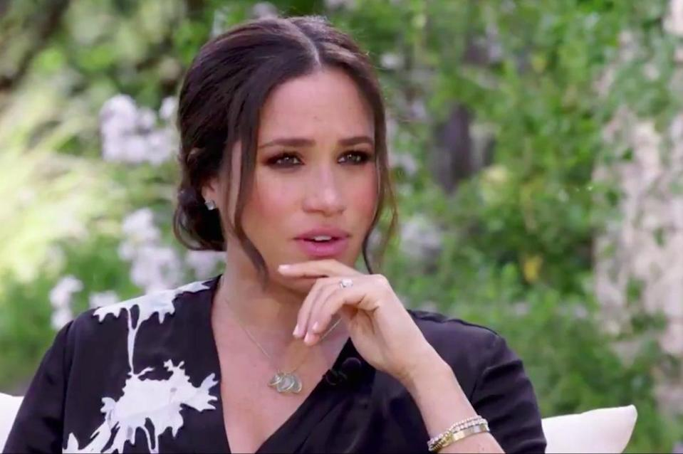 <p>Meghan is set to sit down for a tell-all interview with Oprah</p> (CBS/Twitter)
