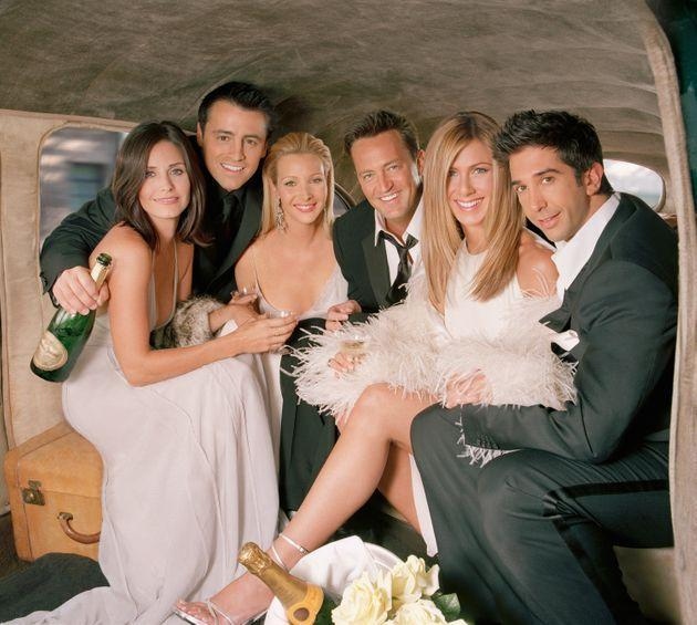The cast of Friends at a photo-shoot for the show's final season (Photo: NBC via Getty Images)