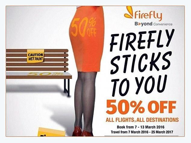 This ad set of a barrage of complaints against Firefly in 2016. Source: Firefly
