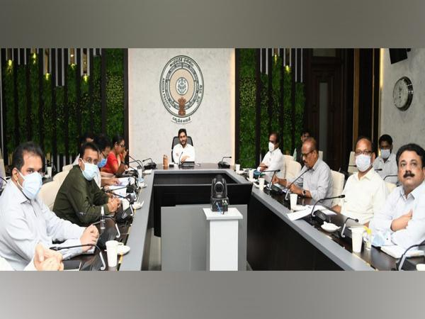 Andhra Pradesh Chief Minister YS Jagan Mohan Reddy in the review meeting
