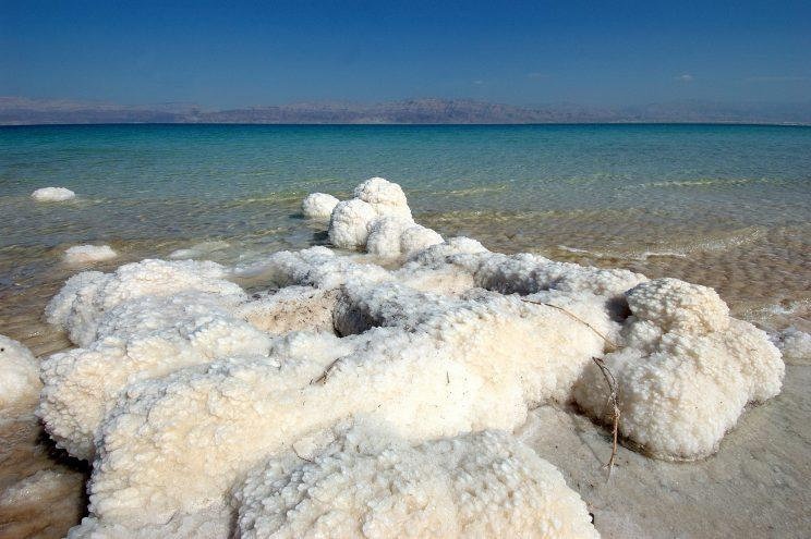 The salt in the Dead Sea (credit: Israeli Ministry of Tourism)