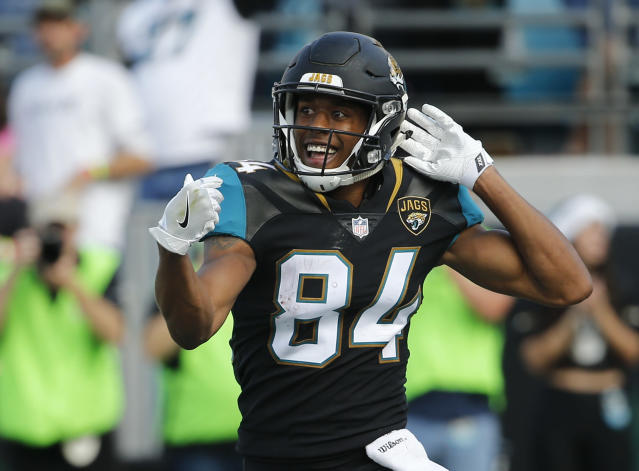 Keelan Cole's monster day didn't help many people: He's owned in just three percent of Yahoo leagues. (AP Photo/Stephen B. Morton)