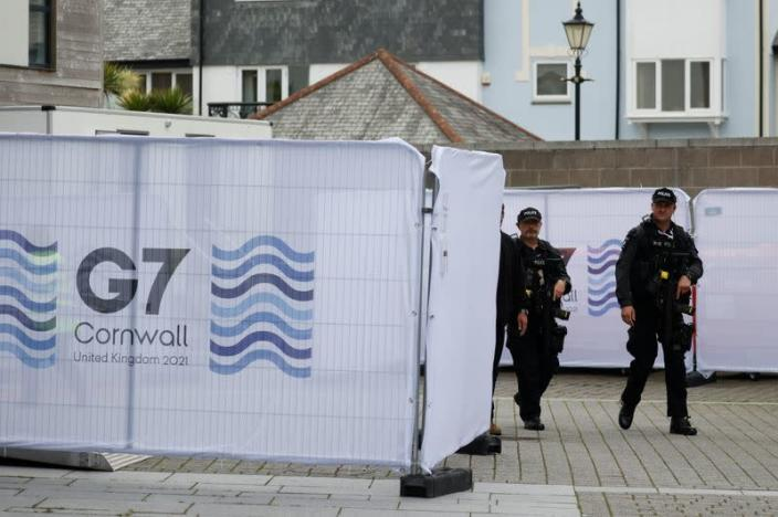 Preparations for the G7 leaders summit in Cornwall