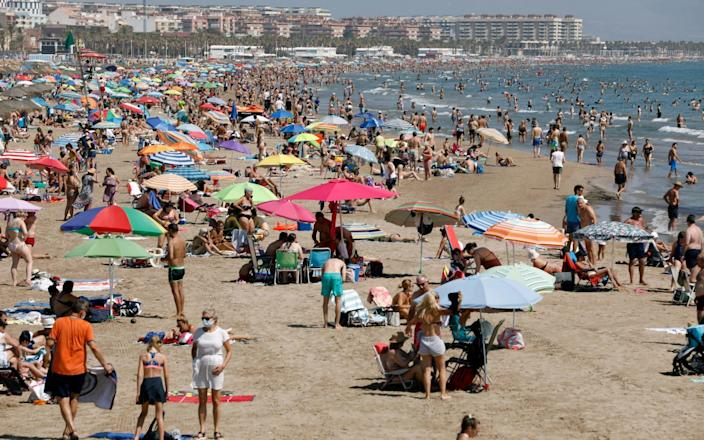 The three-weekly review of the 'green list' would mean more destinations, potentially including hotspots such as Barcelona would be added through June
