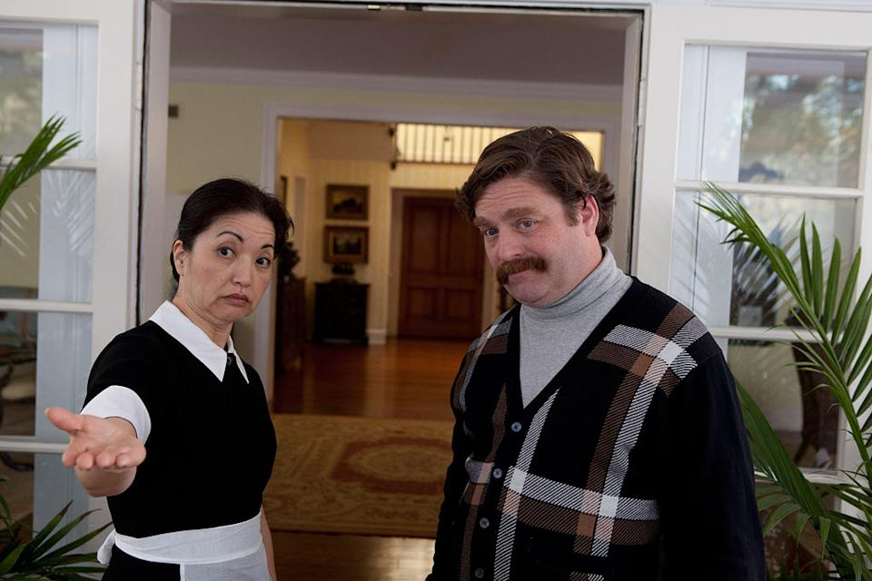 """Karen Maruyama and Zach Galifianakis in Warner Bros. Pictures' """"The Campaign"""" - 2012"""