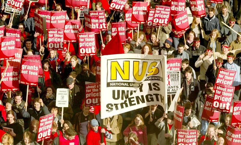 National Union of Students demonstration against loans, London, 2002