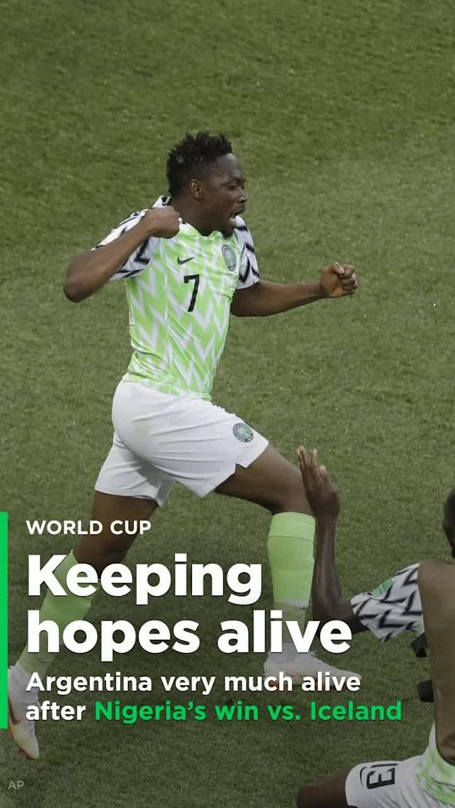 The Argentines got the pivotal result they needed in Group D's other Matchday 2 game roughly 21 hours after their own debacle. Nigeria beat Iceland 2-0 on two wonderful second-half goals from Ahmed Musa.