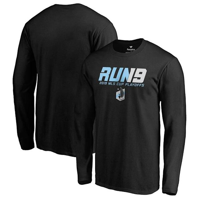 Minnesota United 2019 MLS Cup Playoffs Run It Long Sleeve T-Shirt