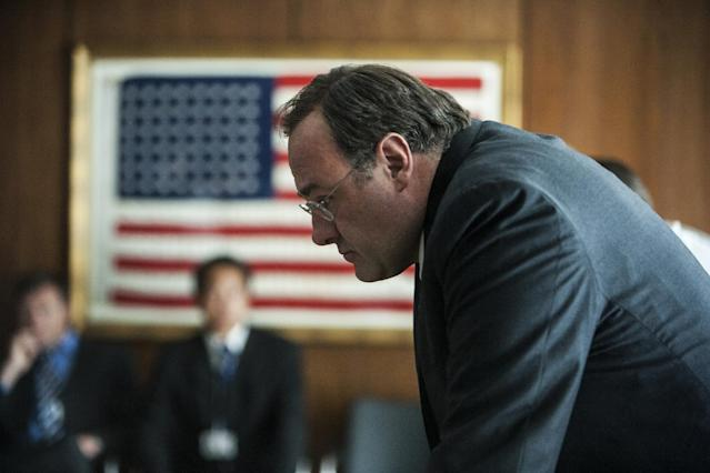"This undated publicity photo released by Columbia Pictures Industries, Inc. shows James Gandolfini playing the C.I.A. Director in Columbia Pictures' new thriller, ""Zero Dark Thirty,"" directed by Kathryn Bigelow. (AP Photo/Columbia Pictures Industries, Inc., Jonathan Olley)"