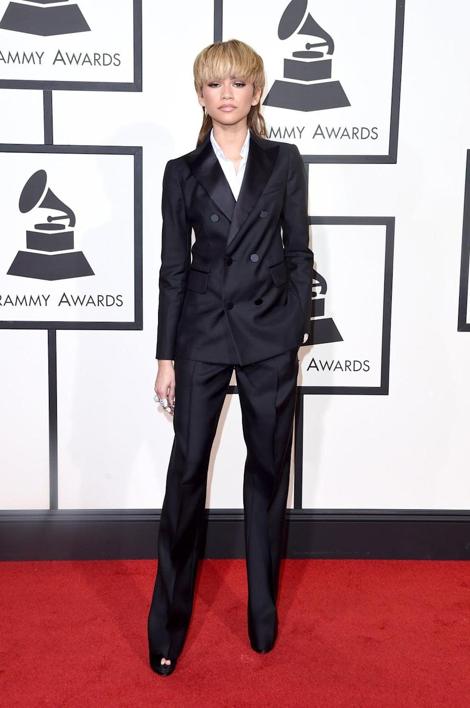 Zendaya reflects on mullet she wore to 2016 Grammys (Getty Images for NARAS)