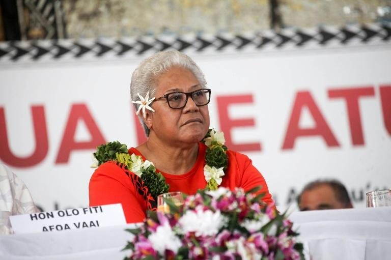 Samoa's Prime Minister-elect Fiame Naomi Mata'afa was sworn in at a ceremony disputed by her rival