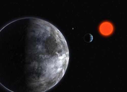 Astronomers have listened for signals from the planetary system around the red dwarf star Gliese 581, just 20.3 light years away, but heard nothing but terrestrial interference.