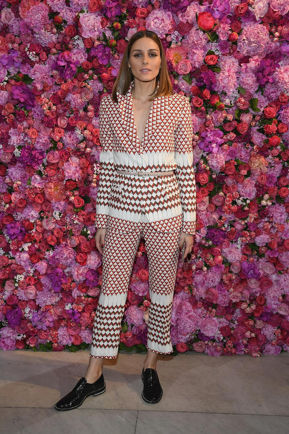 <p>attends the Schiaparelli Haute Couture Fall Winter 2018/2019 show as part of Paris Fashion Week on July 2, 2018 in Paris, France. </p>