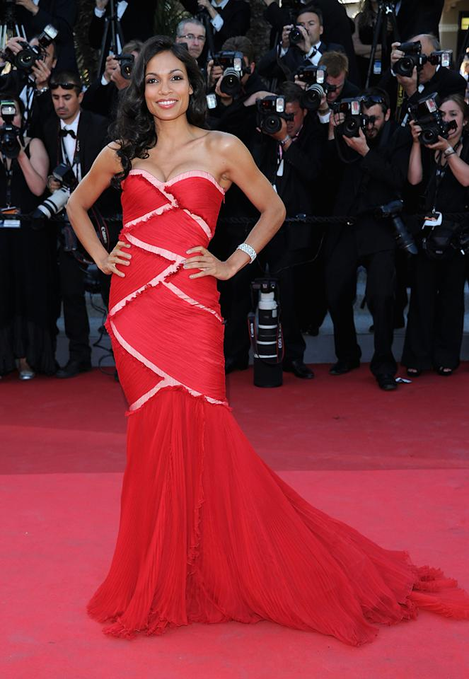 """<a href=""""http://movies.yahoo.com/movie/contributor/1800023039"""">Rosario Dawson</a> attends the 64th Annual Cannes Film Festival premiere of """"This Must Be The Place"""" on May 20, 2011."""