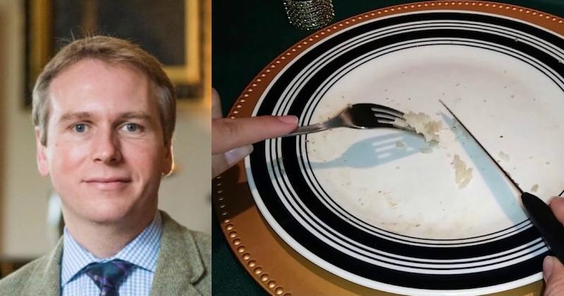 The self-described etiquette expert claimed that one must always use utensils when eating rice. — Pictures via Twitter/TheRoyalButler