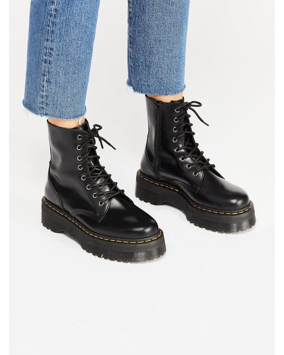 """<p><strong>Dr. Martens</strong></p><p><strong>$180.00</strong></p><p><a href=""""https://go.redirectingat.com?id=74968X1596630&url=https%3A%2F%2Fwww.freepeople.com%2Fshop%2Fdr-martens-jadon-lace-up-boot%2F&sref=https%3A%2F%2Fwww.cosmopolitan.com%2Fstyle-beauty%2Ffashion%2Fg8274845%2Fbest-gifts-teenage-girls%2F"""" rel=""""nofollow noopener"""" target=""""_blank"""" data-ylk=""""slk:Shop Now"""" class=""""link rapid-noclick-resp"""">Shop Now</a></p><p>Few boots are as classic and trendy all at once as Doc Martens. This gift is one teen girls will definitely wear more than once.</p>"""