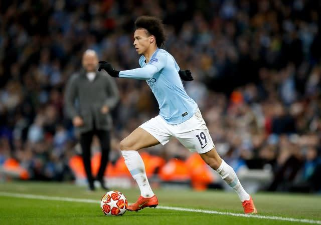 Leroy Sane has rejected a new contract at Manchester City (Martin Rickett/PA)