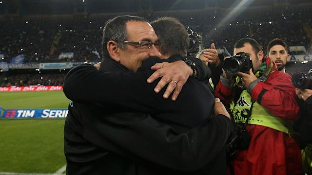 Juventus were forced to adopt more defensive tactics due to the way Napoli set up in Sunday's Serie A draw, Maurizio Sarri claimed.