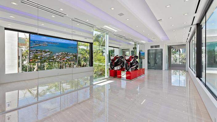 The art gallery, where a motorcycle is currently on display - Credit: Photo: Courtesy of ONE Sotheby's International Realty