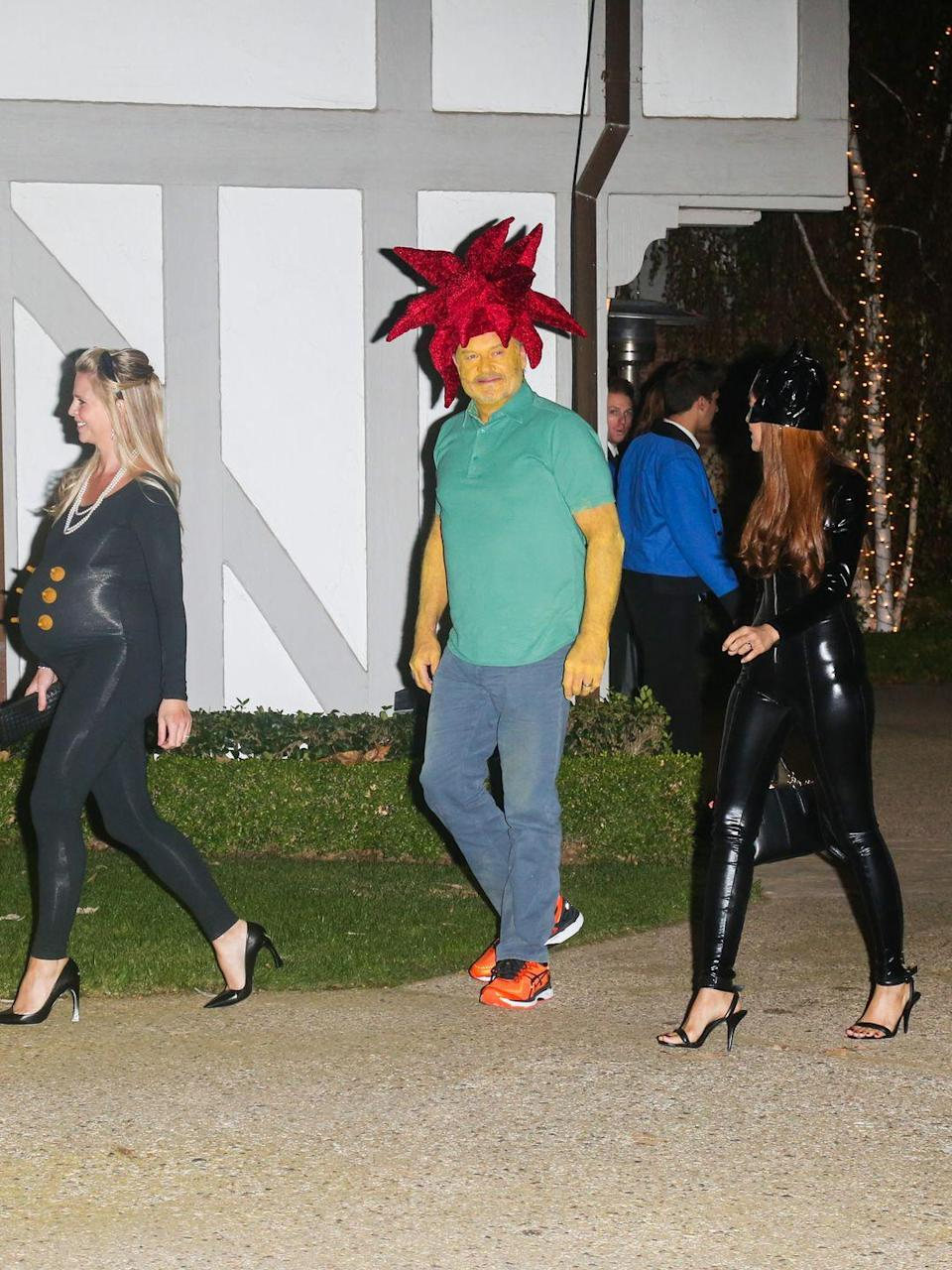 <p>Kelsey Grammer's shockingly colorful costume brought his character from <em>The </em><em>Simpsons</em> to life at Kate Hudson's annual Halloween party in 2016.</p>