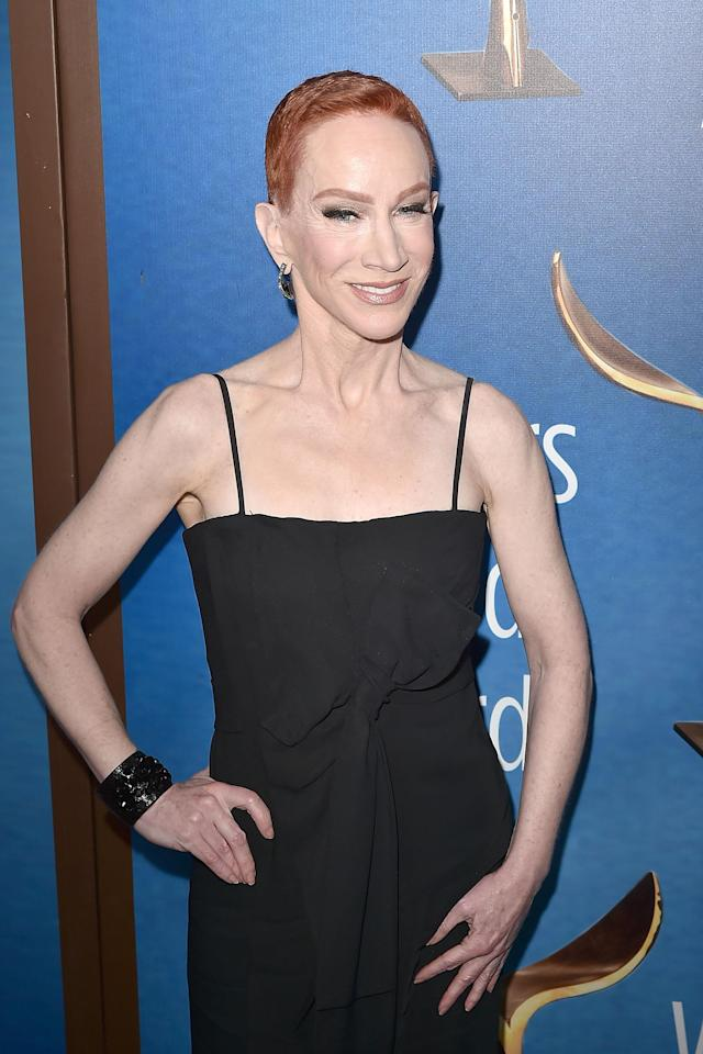 Kathy Griffin at the 2018 Writers Guild Awards in Los Angeles on Feb. 11, now says she was ahead of her time with her controversial Trump photo shoot. (Photo: David Crotty/Patrick McMullan via Getty Images)
