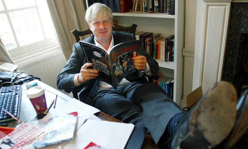 Boris Johnson as editor of the Spectator in 2003.