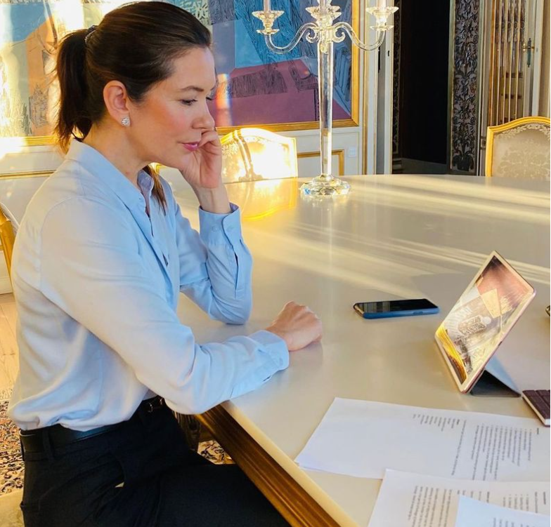Princess mary in her office inside Amalienborg Palace