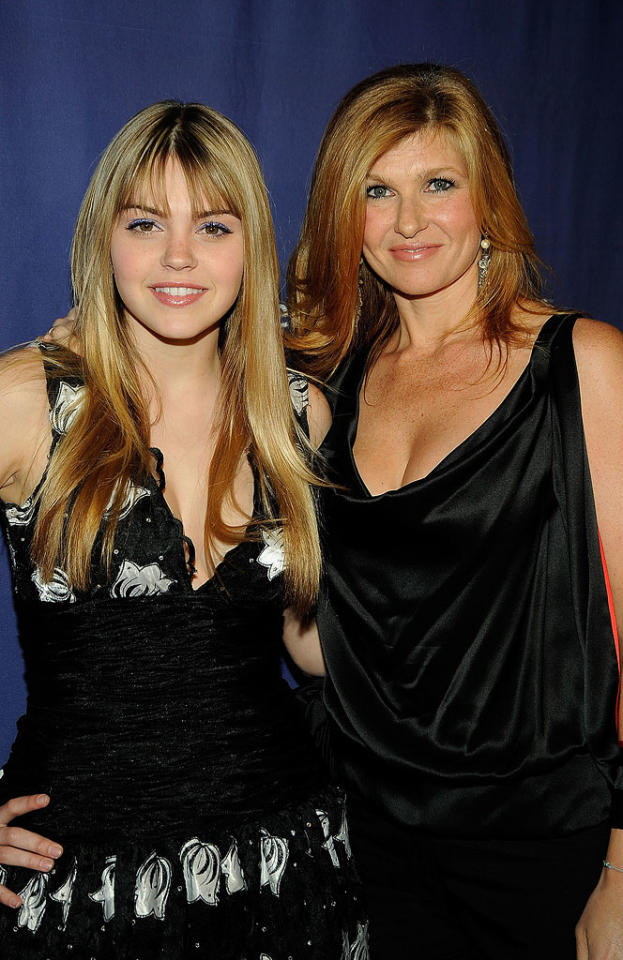 "Aimee Teegarden and Connie Britton pose at the The Alzheimer's Association's 17th Annual ""A Night At Sardi's"" on March 4,2009 at The Beverly Hilton Hotel, Beverly Hills, California."