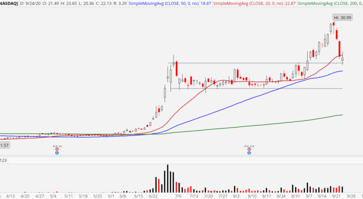 Workhorse (WKHS) stock that shows a bull retracement pattern