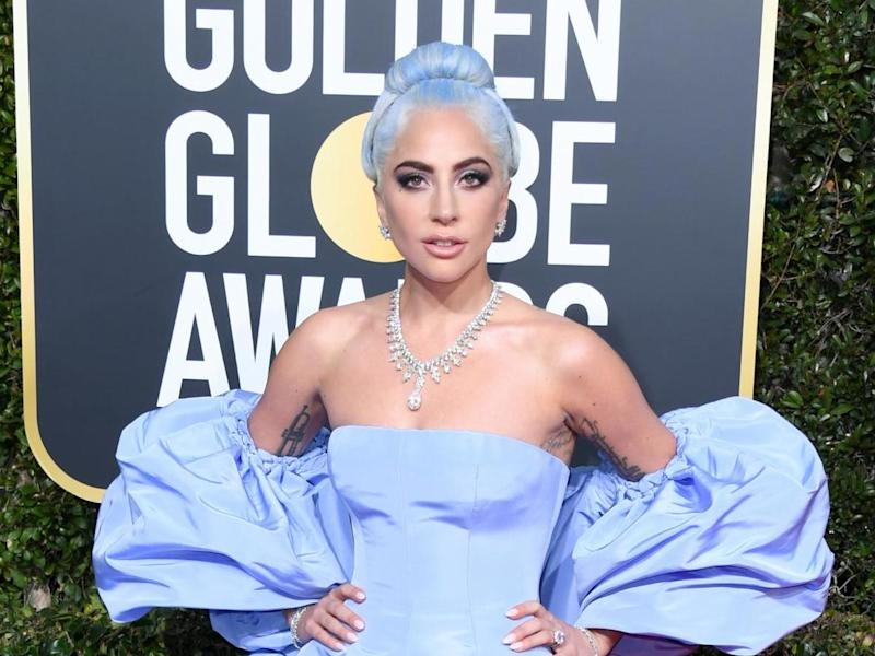 Lady Gaga at the 2019 Golden Globes: Getty Images