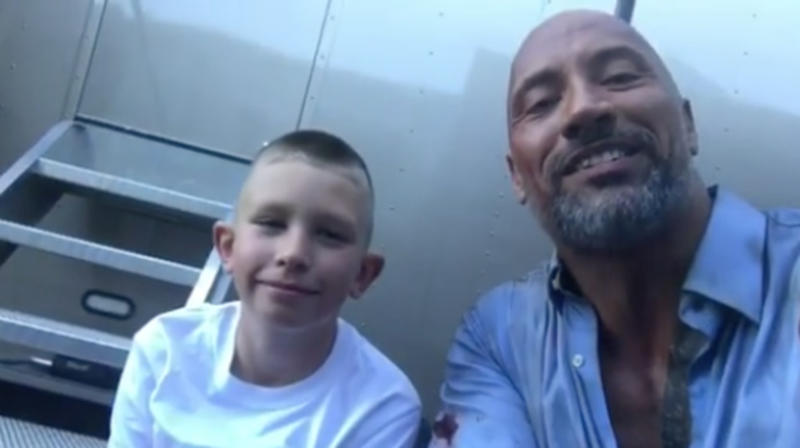 Dwayne 'The Rock' Johnson Meets 10-Year-Old 'Real-Life Hero'