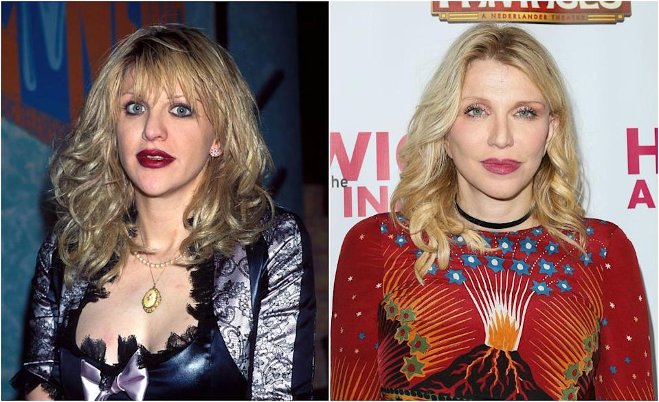 <p>During her Hole days, Courtney was all about the grunge look — wild hair, heavy foundation, darker lips and smoky eyes; if anything, she's aged gracefully. And we're loving the subtle makeup! <i> (Photos: Getty) </i> </p>