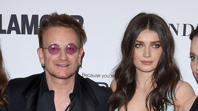 Bono and Eve Hewson arrive at Glamour Women of the Year on November 14, 2016. (Photo by Axelle/Bauer-Griffin/FilmMagic)