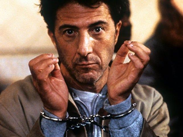 "Dustin Hoffman played the titular ""Hero."""