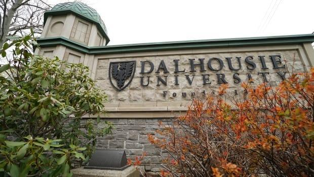 The Dalhousie University sign is shown in this undated photo. The Nova Scotia government says 861 people took part in on-the-job training as part of their university and college studies. (Eric Woolliscroft/CBC - image credit)