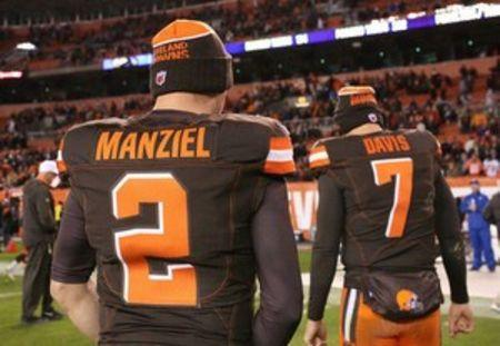 Cleveland Browns quarterback Johnny Manziel (2) walks off the field after the game against the Baltimore Ravens at FirstEnergy Stadium. The Ravens won 33-27. Mandatory Credit: Aaron Doster-USA TODAY Sports