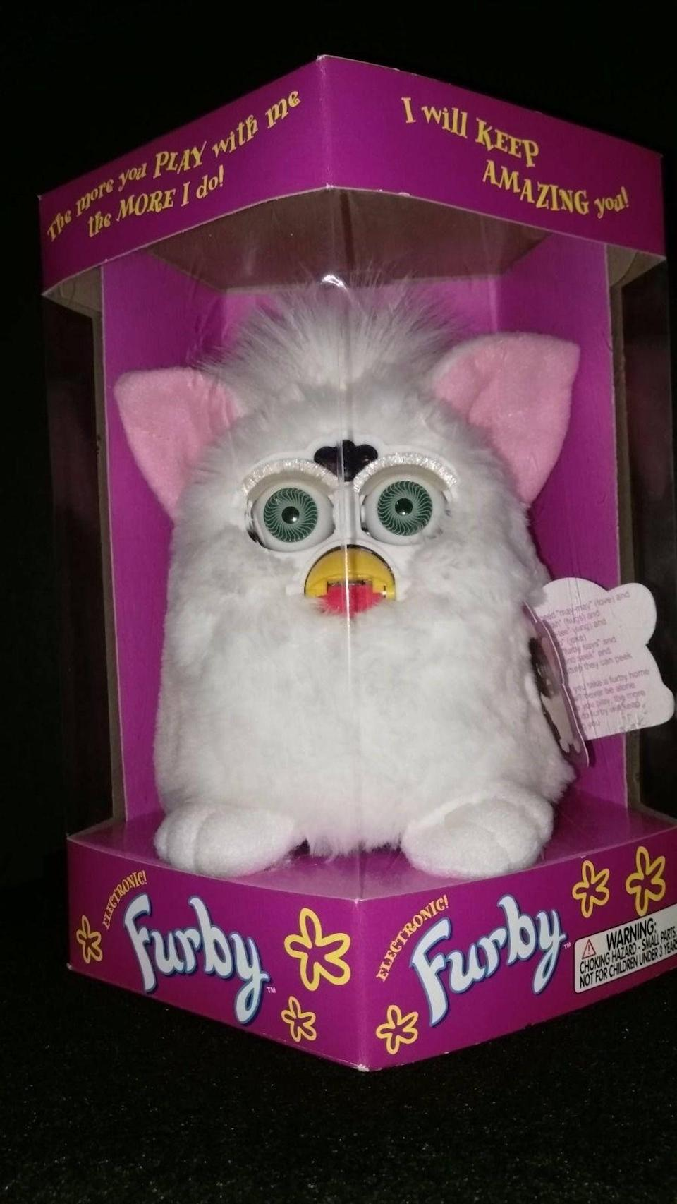 <p>Give the It doll of the '90s, a <span>1998 Furby</span> ($80), to a lucky loved one with a sweet spot for the furry creatures. </p>
