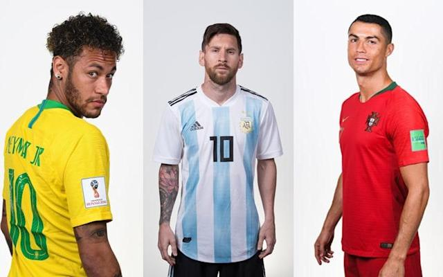 The award for the top goalscorer at this year's World Cup is set to be one of the most hotly contested in years with an array of attacking talent descending on Russia this summer. Colombia midfielder James Rodriguez is the current holder of the coveted golden boot but the chances of him retaining the award look slim with Lionel Messi, Cristiano Ronaldo and Harry Kane all coming into the tournament on the back of impressive domestic seasons in front of goal. Cristiano Ronaldo, one of the leading contenders for the award before a ball was kicked, stole a march on his rivals with a sensational hat-trick in Portugal's 3-3 draw with Spain. The Real Madrid striker netted collected his 51st match ball after his 89th-minute free-kick snatched a point for his country after it looked as though Spain had the game wrapped up. Diego Costa finds himself a goal behind Ronaldo in the early running for the award after scoring a brace in the same game. Russia's Denis Cheryshev is level with Costa after scoring to sublime goals in Russia's 5-0 thrashing of Saudi Arabia on the opening day of the tournament.