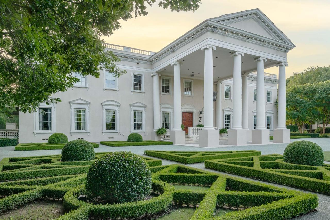 <p>The White House lookalike is on the market for $15 million. It sits on 3.3 acres in a ritzy Dallas suburb and is gated by 8-foot-tall walls.Note how the pediments over the windows on the first floor alternate between rounded and triangular, just as they do on the real White House.</p>