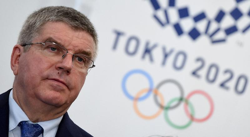 International Olympic Committee (IOC) President Thomas Bach appears at a press conference after a meeting with the 2020 Tokyo Olympics Organizing Committee on October 19, 2016 (AFP Photo/TORU YAMANAKA)