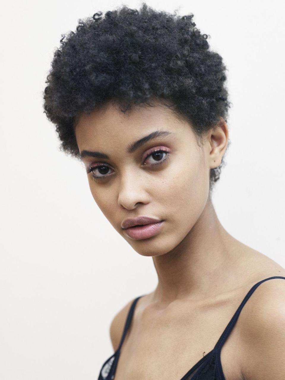 <p>If you're looking for a low-maintenance style, this cut is for you. Model <strong>Samile Bermannelli's </strong>cut is short along the back and sides with va-va-volume on top so styling is essentially done for you. </p>
