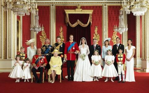 The official photograph from the Duke and Duchess of Cambridge's 2011 wedding - Credit: Hugo Burnand