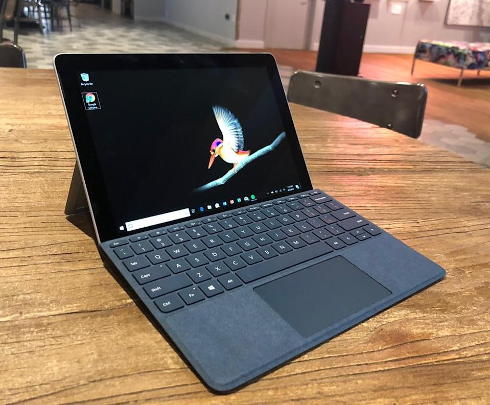 Microsoft's Surface Go is a pint-sized computer for working on the, well, go. But don't expect it to replace your full-size PC.