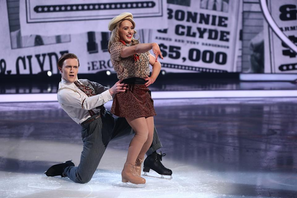 Editorial use only Mandatory Credit: Photo by Matt Frost/ITV/Shutterstock (11757931fp) Amy Tinkler and Joe Johnson 'Dancing On Ice' TV show, Series 13, Episode 5, Hertfordshire, UK - 14 Feb 2021