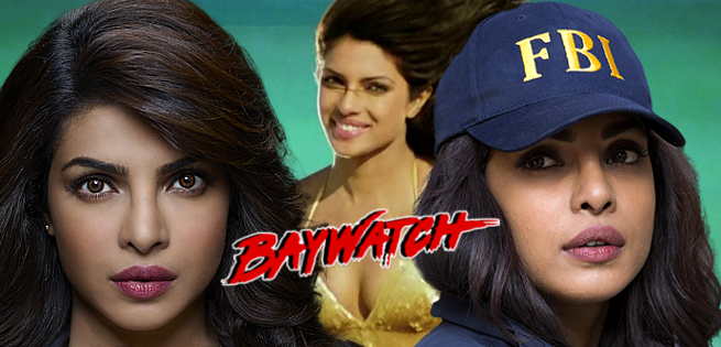 priyanka chopra baywatch the rock