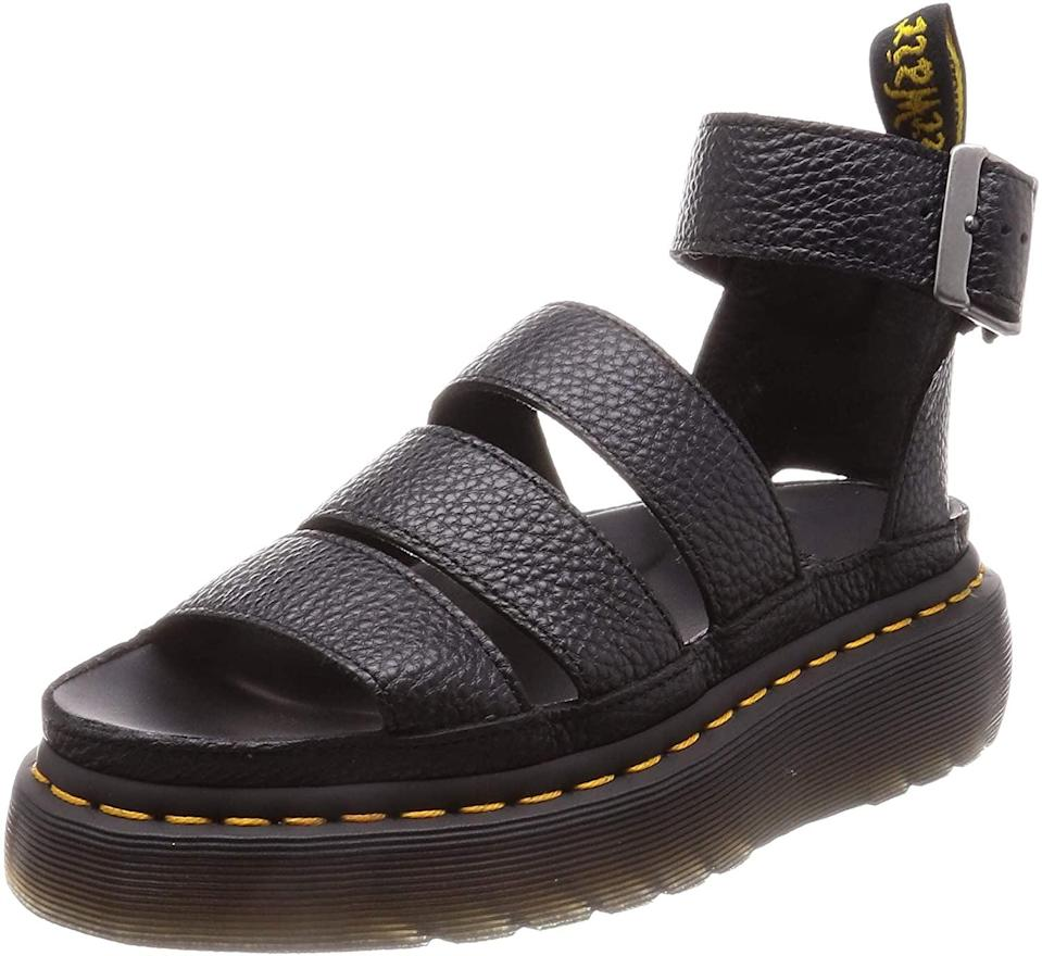 <p>Pair these <span>Dr. Martens Clarissa II Quad Sandals</span> ($140) with your favorite jeans and t-shirt for a cool, laidback look.</p>